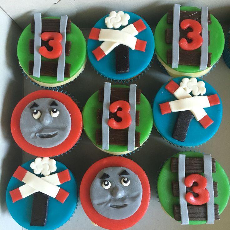 Thomas de trein cupcakes