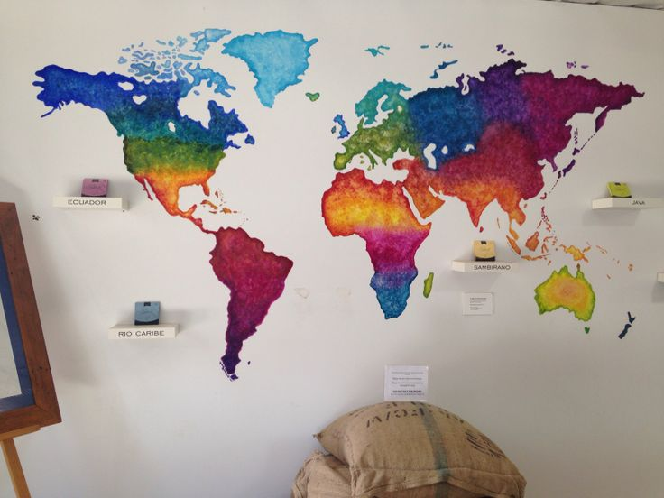22 best wall painting ideas images on pinterest world maps world map painting colours head board idea wall decoration gumiabroncs Choice Image