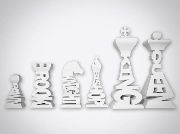 chess typography