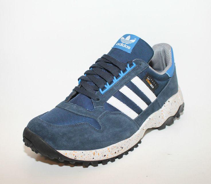 Adidas Mens Originals ZX 500 Trail Shoes TR Navy Blue Cordura G96564 New 10