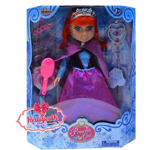 Oyuncak Prenses Bebek Saçlı Aksasuarlı