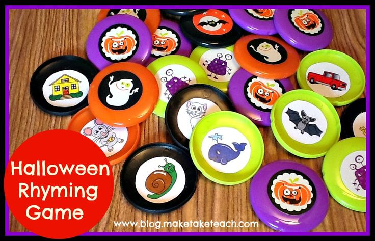 FREE rhyming pictures to make your own game.  Makes for a great literacy center or small group instruction activity