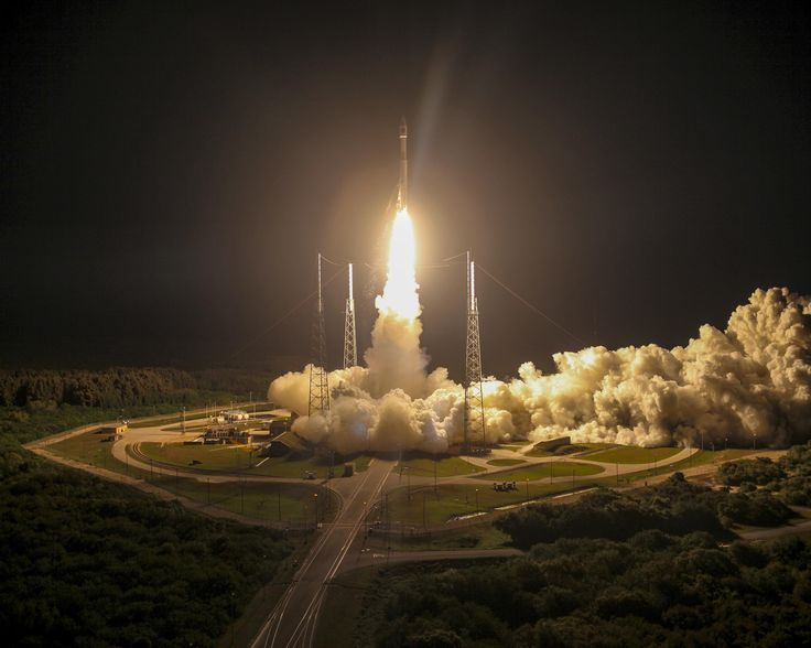 An Atlas V rocket launches March 12, 2015, from Launch Complex 41 at Cape Canaveral Air Force Station, Fla. The 45th Space Wing supported the successful launch of NASA's Magnetospheric Multiscale mission. (Courtesy Photo/United Launch Alliance)