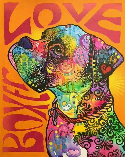 Pin by Sue Daigneault on Artistic Boxer dogs, Boxer