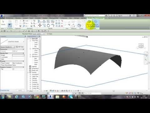 Tensile Structure on Revit - YouTube
