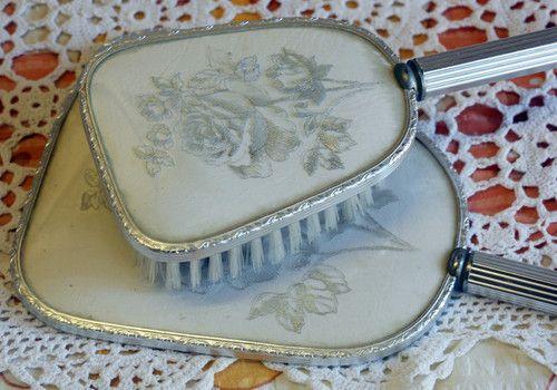 Vintage Vanity SET Brush AND Mirror   eBay