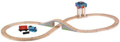 Fisher-Price Thomas & Friends Wooden Railroad Coal Hopper Figure 8 Set
