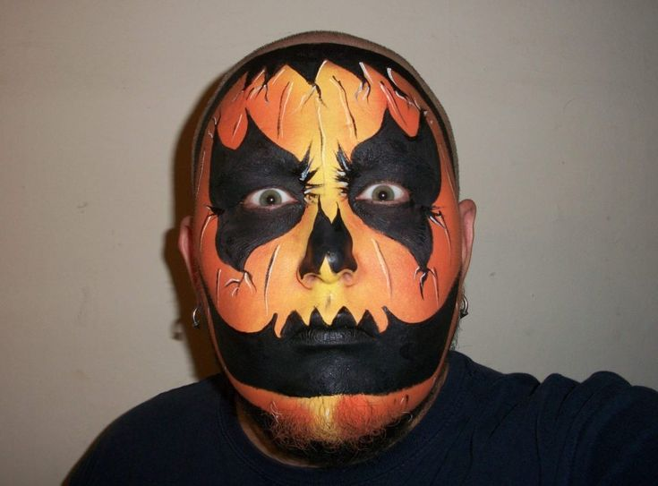 52 best scary halloween face painting designs images on for Clown pumpkin painting