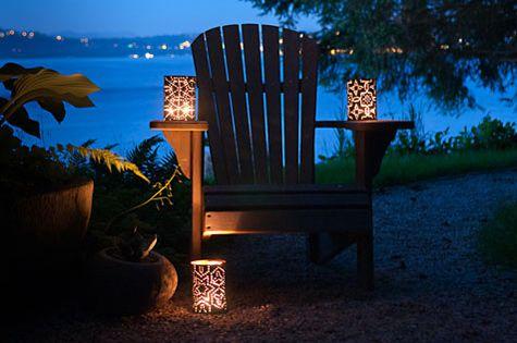 Сияющие узоры -удивительная красота своими руками: садовые светильники из консервных банок - Когда окутывают сумерки наш сад и наполняют тайнами в ночи, он оживает вспышкам гирлянд и тихим светом трепетной свечи - Форум-Град