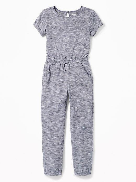 8a04f6b49e Short-Sleeve Jersey Jumpsuit for Girls