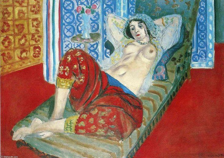 'Odalisque in Red Culottes', öl auf leinwand von Henri Matisse (1869-1954, France)