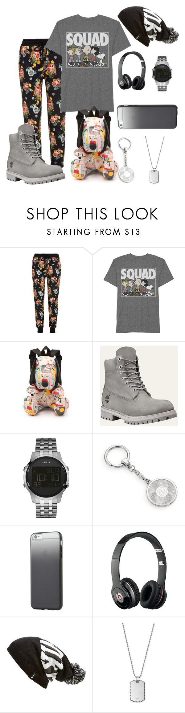 """""""For both . Snoopy's squad tho"""" by misfit4life13 ❤ liked on Polyvore featuring Markus Lupfer, LeSportsac, GUESS, Dunhill, Tavik Swimwear, Beats by Dr. Dre, NIKE, Giorgio Armani, mens and men"""