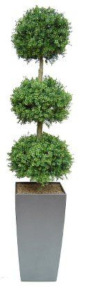 This artificial triple boxwood ball is part of a stunning range of artificial topiary designed specifically for outdoor use. All of our topiary trees and plants are UV stable to prevent discolor or fading on those sunny days. We can pot your topiary into the planters of your choice so take your time choosing those finishing touches!