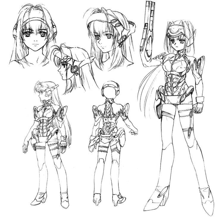 Xenosaga Character Design : Best d girls images on pinterest anime