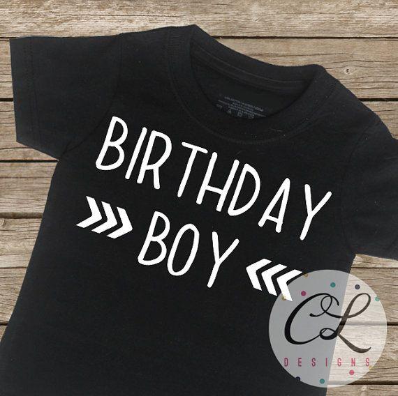 Birthday Boy Shirt / Birthday T-Shirt Arrow by CourtneyLeighPrints