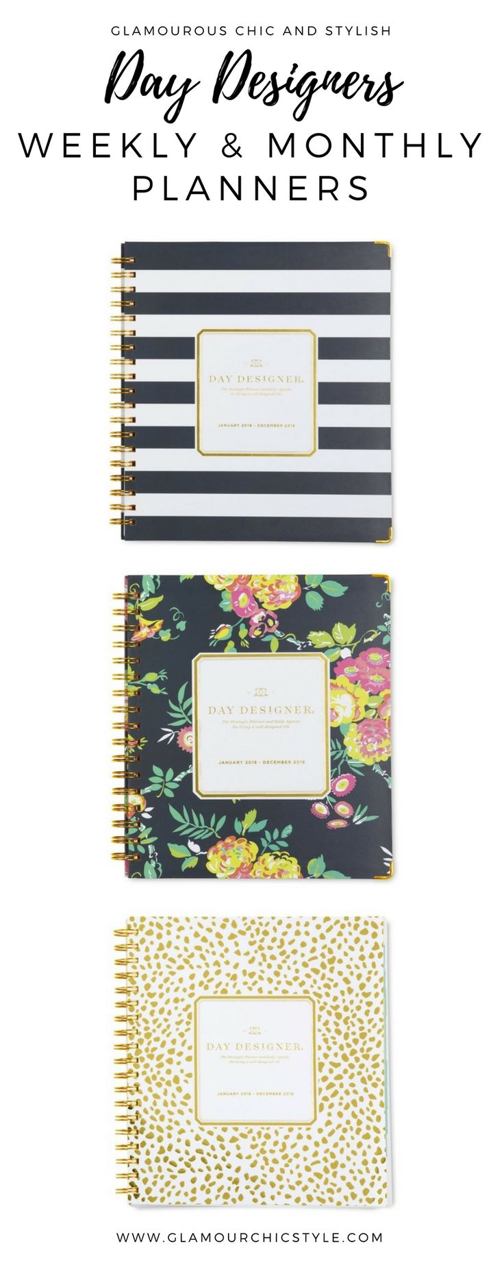 Day Designers - Weekly and Monthly Planners for keeping your diary managed and for your goals to be kept on track. #Ad
