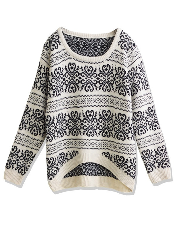 Winter Knit Sweater.  LOVING Fair Isle Print. <3