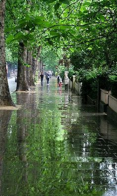 after the rain.. Holland Park Avenue, London, England (by Martin-James on Flickr)