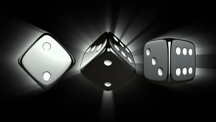Casino Dices Spinning - Casino Theme Background With Spinning ...
