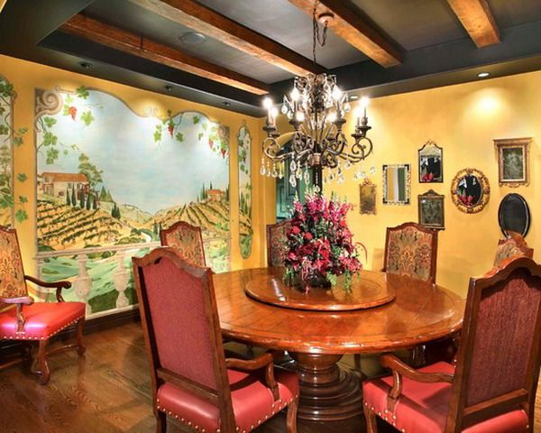Italian Dining Room Wall Murals Art Design