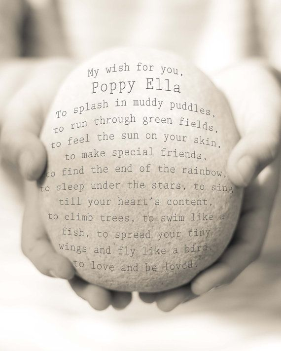 Baby Wish Print Personalised New Baby by OceanDropPhotography, $26.00