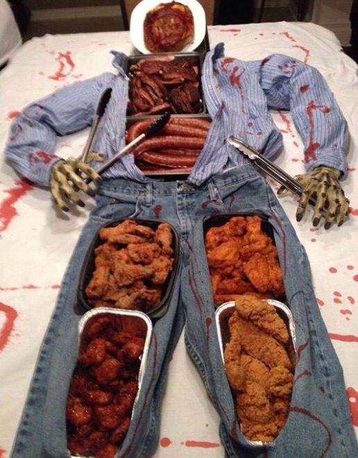 Great halloween dinner buffet trick or treat pinterest
