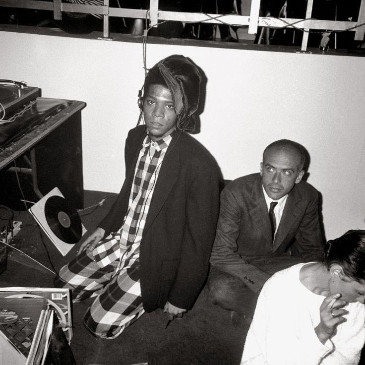 Jean-Michel Basquiat and Francesco Clemente.-Wmag