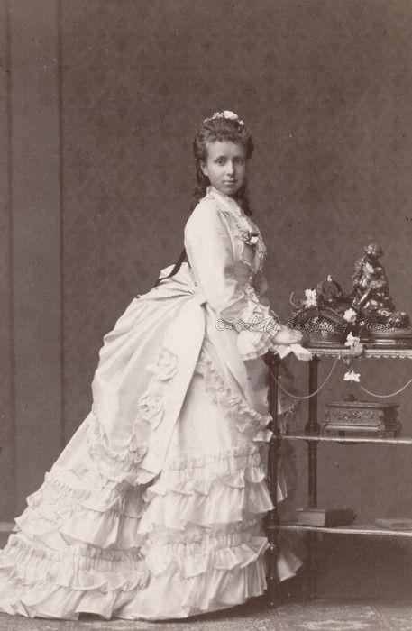 Archduchess Maria Cristina of Austria-Teschen, later Queen Regent of Spain. Mids 1870s