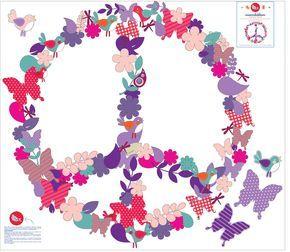 signo de la paz lila, 60 x 65cm, $490.-