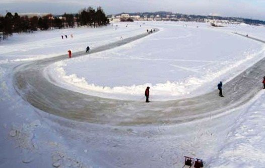 Kuopio winter, ice skating