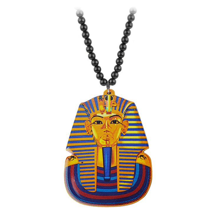 Hip Hop Tutankhamun Gold Egypt Pharaohs Necklaces & Pendants New 2016 Fashion Jewelry For Men Beads Long Chain Necklace Gift