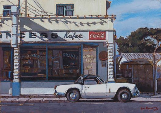 Photo: Who remembers the Princess Kafee in Hermanus? Oil on board, 2012. Private collection
