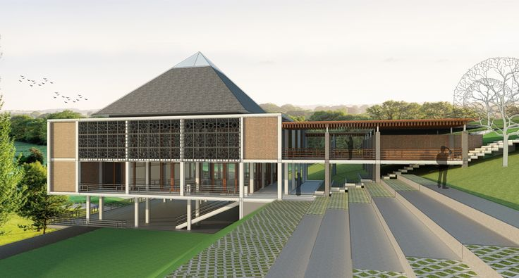 mosque design exterior #project #architecture #mosquedesign #sketchup #vray #photoshop