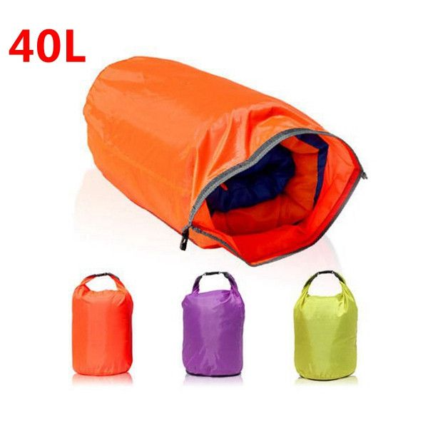 40L Waterproof Dry Bag Canoe Floating Boating Kayaking Camping This product is with humanized design, can be used as lifebelt in emergency, it can put food, clothes, wallet and other personal belongin