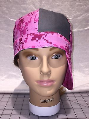 Welding Cap Welding Hat Female Pink Multi Cam With Gray Grey  Size Large 7-1/4