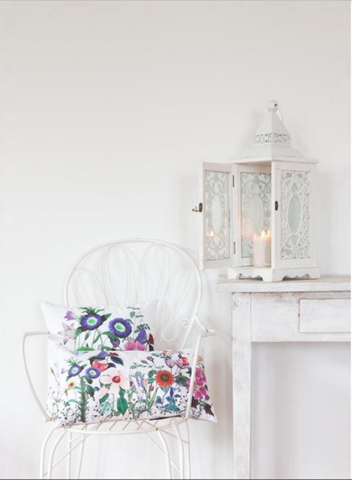 white decor, white trends, flowers cushion, cojín flores, tendencias decoración blanco,zara home, estilo provenzal,