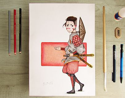 """Check out new work on my @Behance portfolio: """"samurai Commission."""" http://be.net/gallery/41502871/samurai-Commission"""