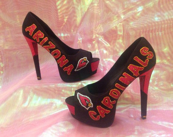 Need these!!!!! Etsy listing at https://www.etsy.com/listing/176076879/arizona-cardinals-black-suede-type-high