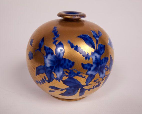 Thomas Forester Vase Flow Blue Cobalt Blue by LeVintageGalleria, $230.00