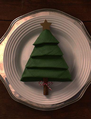 Publix DIY Christmas Tree Napkins
