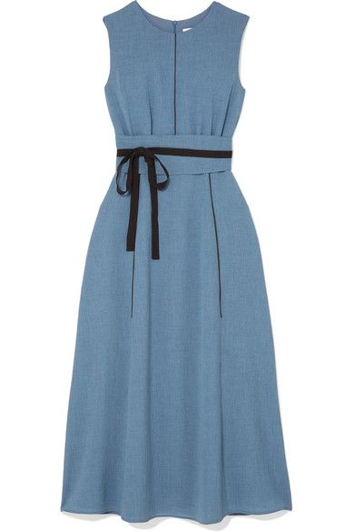 7cd0a1f74fc9d Cefinn - Belted voile midi dress | Playing Dress-Up | Dresses, Blue ...