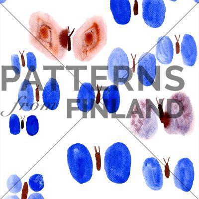 Sinisiipi by Maria Tolvanen  #patternsfromfinland #mariatolvanen #pattern #surfacedesign #finnishdesign