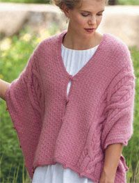 Cable Shrug Pattern: Five Way Cable Wrap by Lily Chin