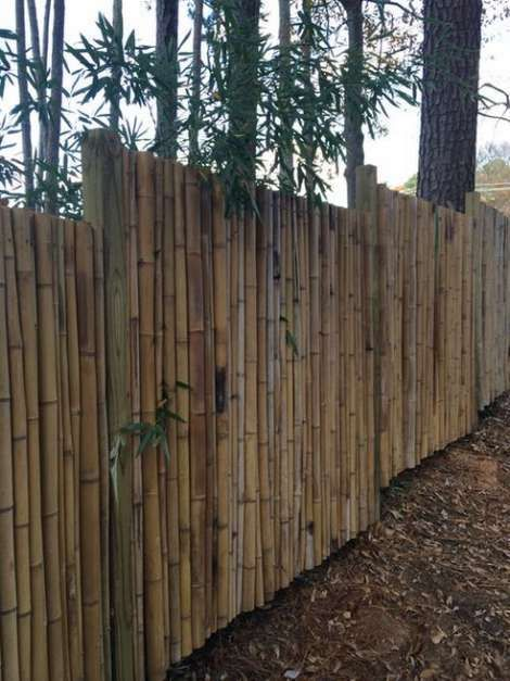 10 Garden Fence Ideas to Make Your Green Space More Beautiful  Try this at your backyard. Simple, traditional, on budget. :)  #GardenFence #BackyardIdeas #Garden #Fence #Flower #Vegetable #Backyard #Bamboo #BambooFences