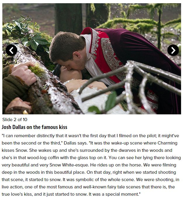 Josh Dallas - Once Upon a Time cast reveals memories from shooting the pilot