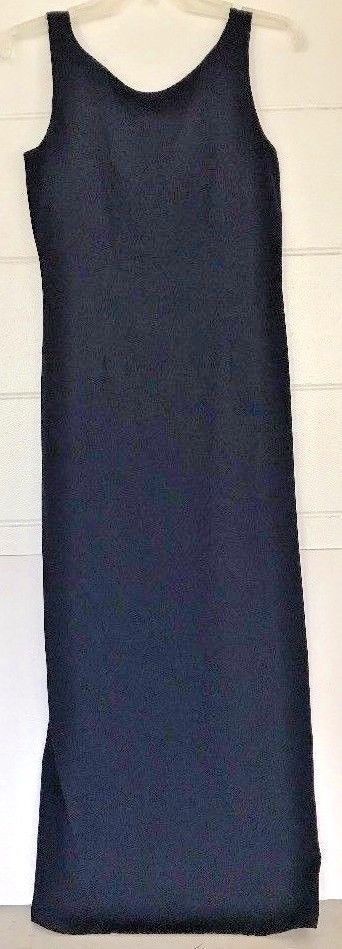 JONES NEW YORK Dark Navy Blue DRESS Size 8 Tank top Lined LONG Cocktail Wedding #eBayDanna