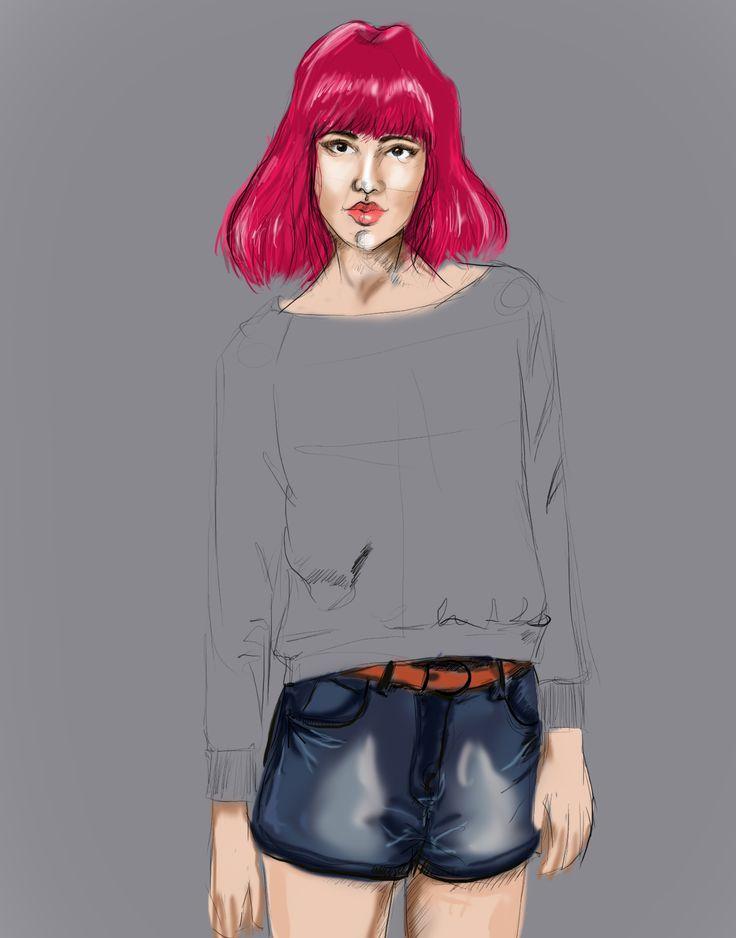 #illustration #sketch #digital