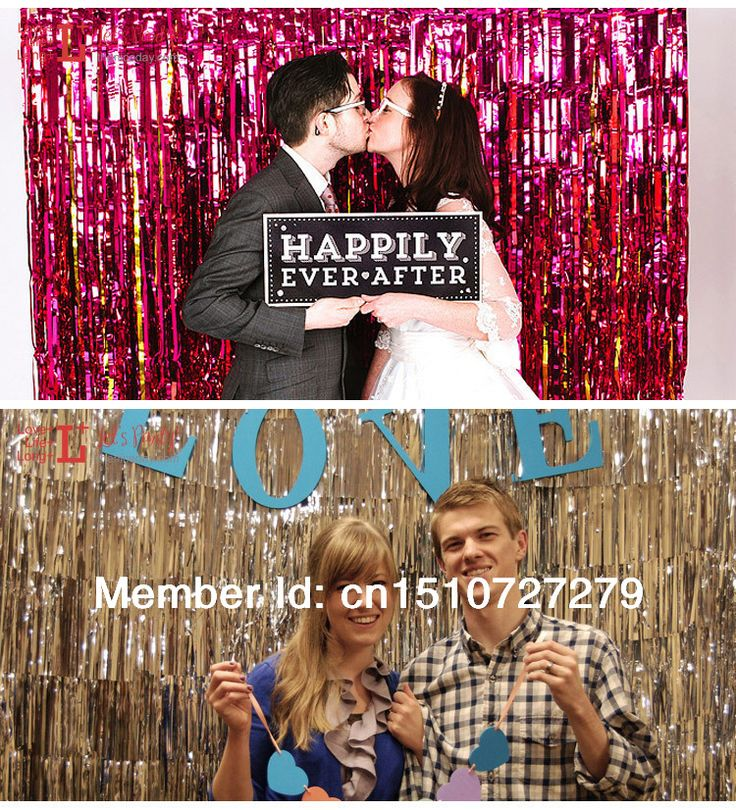 wedding reception photo booth singapore%0A Backdrop Foil Curtain  Tinsel Ribbon Curtain for Wedding Birthday Festival  Holiday Party Decoration
