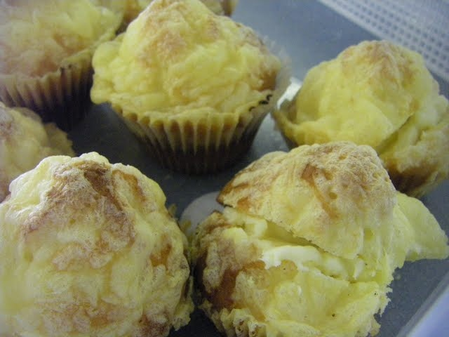 Cheesey Muffins with cream cheese filling
