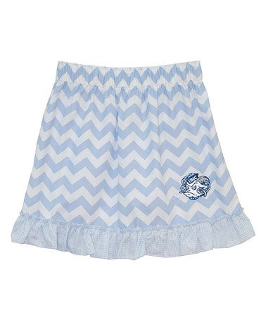 Another great find on #zulily! North Carolina Tar Heels Zigzag Ruffle Skirt - Toddler & Girls by Vive La Fête #zulilyfinds